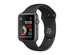 Apple Watch Series 2 Space Gray Aluminum Case with Black Sport Band (MP0D2)