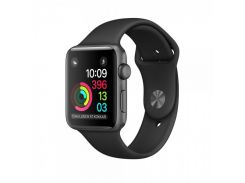 Apple 38mm Space Grey Aluminium Case with Black Sport Band (MP022)