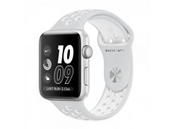 Apple Watch Nike+ 42mm Silver Aluminum Case with Pure Platinum/White Nike Sport Band MQ192