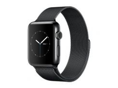 Apple Watch Series 2 38mm Space Black Stainless Steel Case with Space Black Milanese Loop (MNPE2)