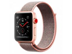 Apple Watch Series 3 42mm GPS+LTE Gold Aluminum Case with Pink Sand Sport Loop (MQK72)