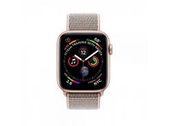 Apple Watch Series 4 GPS + Cellular 44mm Gold Aluminum Case with Pink Sand Sport Loop (MTVX2)