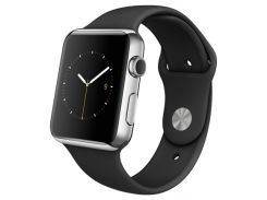 Apple Watch MLC82 42mm Space Black Stainless Steel Case with Black Sport Band
