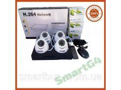 Комплект видеонаблюдения на 4 внутренние цветные камеры AHD 720P, Комплект наблюдения на четыре камеры AHD 720