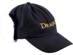 Кепка Dragon теплая с мехом Черная (TCH-90-091-01)