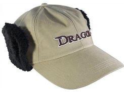 Кепка Dragon теплая с мехом Бежевая (TCH-90-092-02)