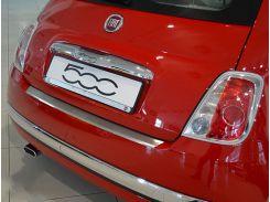 Накладка на бампер с загибом Fiat 500 2007- NataNiko Premium