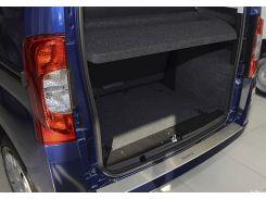 Накладка на бампер с загибом Fiat Qubo 2008- NataNiko Premium
