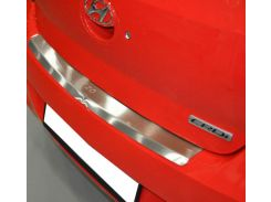 Накладка на бампер с загибом Hyundai i20 FL 2010- NataNiko Premium