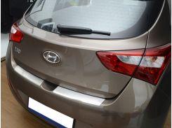 Накладка на бампер с загибом Hyundai i30 II 2012- NataNiko Premium