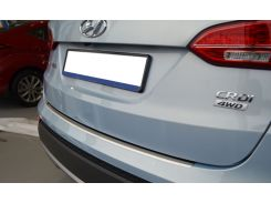 Накладка на бампер с загибом Hyundai Santa Fe III 2013- NataNiko Premium