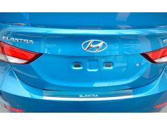 Накладка на бампер с загибом Hyundai Elantra MD 2013 NataNiko Premium