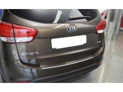 Накладка на бампер с загибом Kia Carens IV 2013- NataNiko Premium