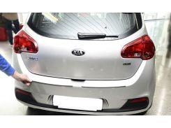Накладка на бампер с загибом Kia Ceed II 5D 2012- NataNiko Premium