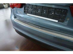 Накладка на бампер с загибом Kia Rio III 4D 2013- NataNiko Premium