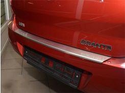 Накладка на бампер с загибом Lada Granta 2010- NataNiko Premium