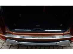 Накладка на бампер с загибом Land Rover Range Rover Evoque 2013 NataNiko Premium