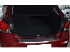 Накладка на бампер с загибом Chevrolet Cruze 5D 2013- нерж. NataNiko