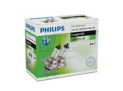 Галогеновая лампа Philips H4 LongerLife (12342ELC2) (2pcs carton)