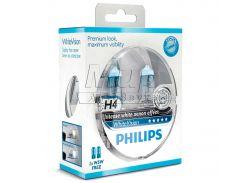 Галогеновая лампа Philips H4 WhiteVision +60% (12342WHVSM) (2pcs blister)