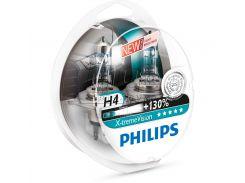 Галогеновая лампа Philips H4 X-tremeVision +130% (12342XV+S2) (2pcs blister)