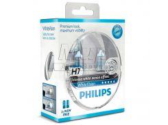 Галогеновая лампа Philips H7 WhiteVision +60% (12972WHVSM) (2pcs blister)