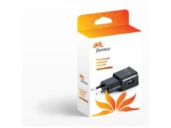 Адаптер Florence USB black, 1000mA (TC10-USB)