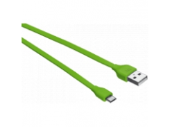 Плоский кабель Urban Revolt MICRO-USB CABLE 1M LIME