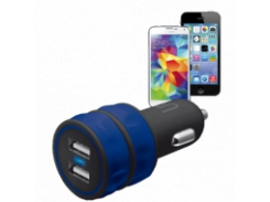 Зарядное устройство Urban Revolt DUAL SMART CAR CHARGER BLUE