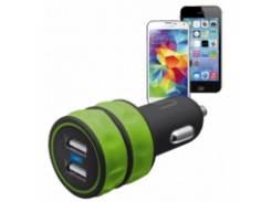 Зарядное устройство Urban Revolt DUAL SMART CAR CHARGER LIME
