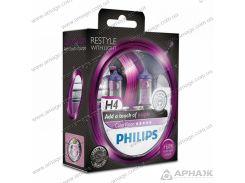Лампа галогенная Philips H4 ColorVision Purple 12342CVPPS2
