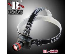 Фонарь налобный BaiLong BL-6609/TK27