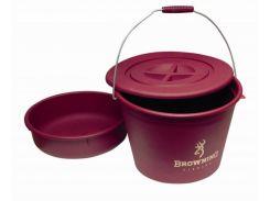 Ведро для прикормки Browning Groundbait Bucket 30л крышкой