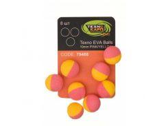 Искусственная насадка Texno Eva Balls 10 mm, pink/yellow, 8 ps