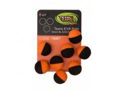 Искусственная насадка Texno Eva Balls 10 mm, black/orange, 8 ps