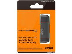 USB флешка Verico USB 2.0 8Gb Hybrid Dual
