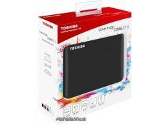 "HDD-накопитель Toshiba Canvio Connect II Внешний жесткий диск 2.5"" 500GB USB 3.0 Black (HDTC805EK3AA)"