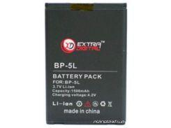 Аккумуляторная батарея EXTRADIGITAL Nokia BP-5L 1500 mAh 6 мес. гарантии (DV00DV6039)