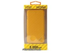 Портативная батарея ( PowerBank ) Nomi Внешний аккумулятор F050 5000 mAh Yellow