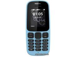 мобильный телефон nokia 105 dual sim 2017 new blue (синий) (a00028317)