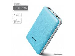 Портативная батарея ( PowerBank ) ColorWay 8000 mAh Blue (CW-PB080LPA2BL)