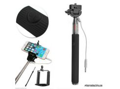 Монопод для селфи Monopod with cable take pole black