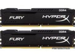 Оперативная память Kingston DDR4 8GB (2x4GB) 2666 MHz Fury Black (HX426C15FBK2/8)