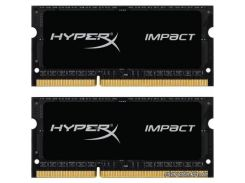Оперативная память Kingston SoDIMM DDR3 8GB (2x4GB) 1600 MHz HyperX Impact (HX316LS9IBK2/8)