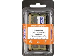 Оперативная память GOODRAM SO-DIMM DDR3 8Gb 1333Mhz БЛИСТЕР (GR1333S364L9/8G)