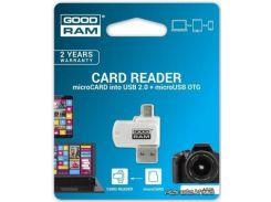 Карта памяти GOODRAM Считыватель флеш-карт GOODRAM AO20-MW01R11 (AO20-MW01R11) для фотоаппарата