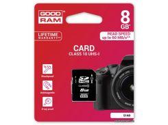 Карта памяти GOODRAM SDHC 8GB UHS-I Class 10 (S1A0-0080R11) для фотоаппарата