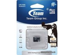 карта памяти team microsd 16gb class 10 (tusdh16gcl1002) для телефона или планшета
