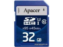 Карта памяти Apacer SDHC 32GB UHS-I 95/45 Class10 (AP32GSDHC10U3-R) для фотоаппарата