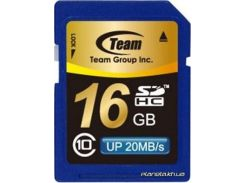Карта памяти Team 16Gb SDHC class 10 (TSDHC16GCL1001/TG016G0SD28X) для фотоаппарата